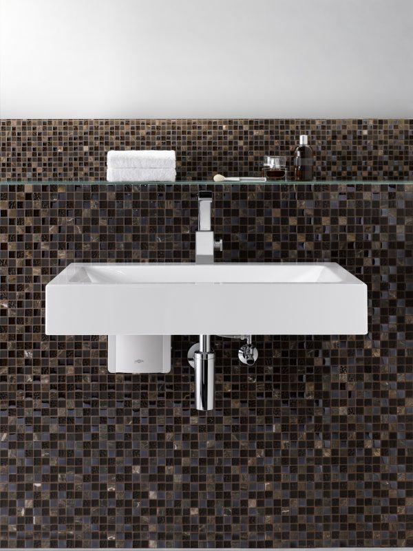 Gjennomstrømsvarmer for håndvask Modell MBH * Tilkobles vanlig armatur