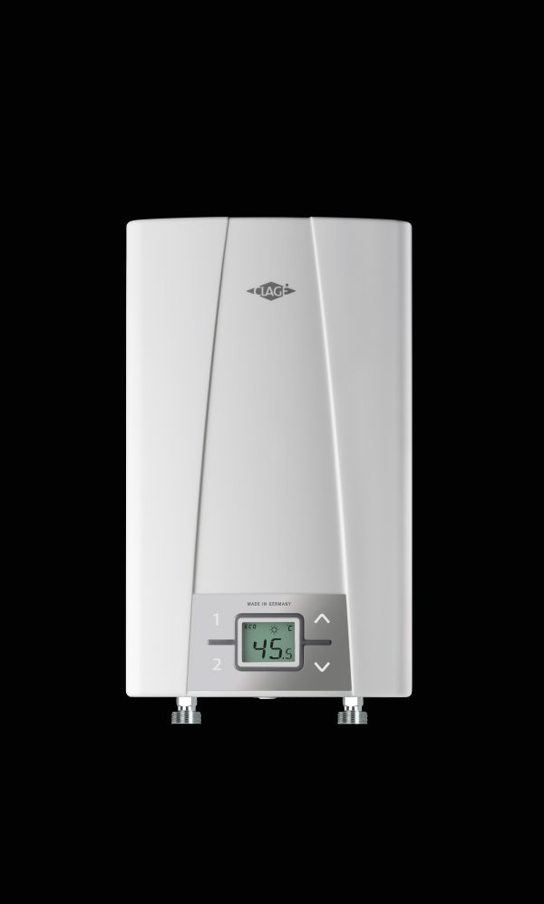 Gjennomstrømsvarmer Modell CEX Electronic 400V Rørstusser ned