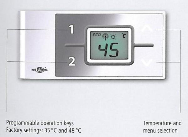 Fjernkontroll for gjennomstrømsvarmerModell FX