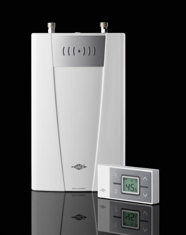 Gjennomstrømsvarmer Modell CFX-U ** Med fjernkontroll **