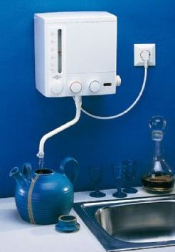 Vannkoker Modell K5 (230 V – 2kW- 10 Amp) Montering over vask