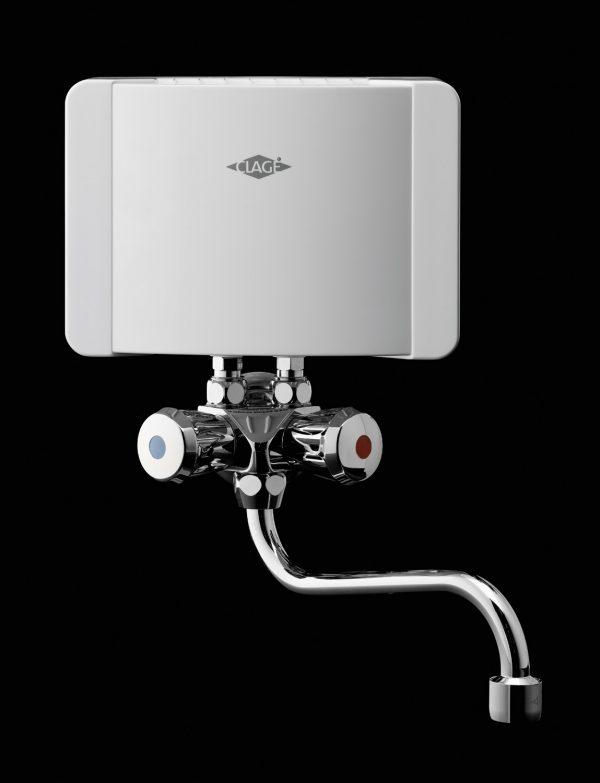 Gjennomstrømsvarmer for håndvask med armatur Modell M-SMB – 230V-3,5Kw og 4,4Kw