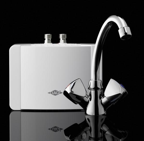 Gjennomstrømsvarmer for håndvask m/SNM tohånds armatur  Modell M3- 3,5kW, M4-4,4kW og M6-5,7kW